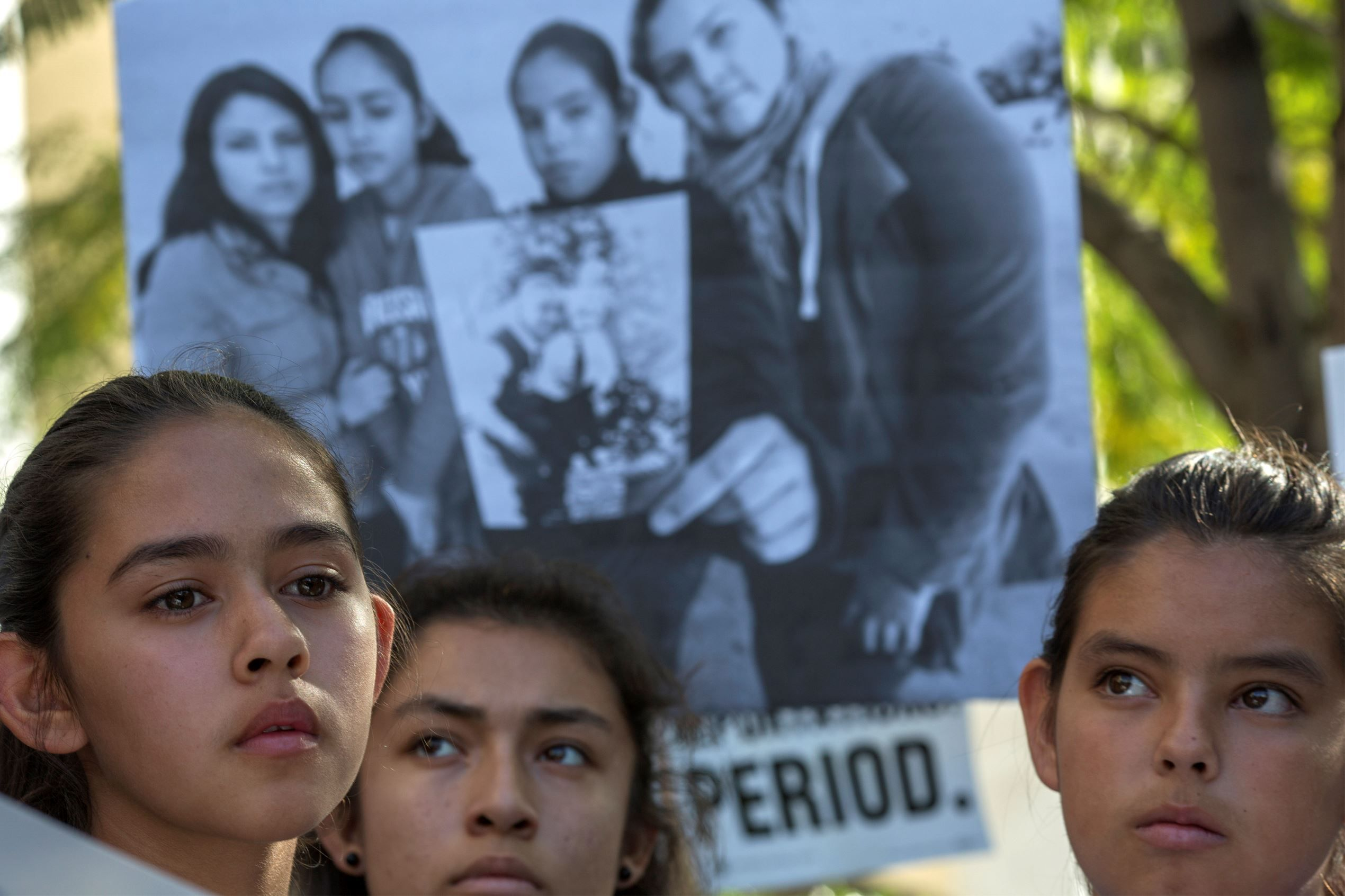 """My dad was detained in front of me on my way to school,"" Fatima Avelica said of her father's Feb. 28 arrest in Los Angeles.  ""Immigrants are an integral part of this country. Democrats will be vigilant and strong in our commitment to upholding the promise of America and shielding immigrants from President Trump's policies. Senate Democrats are prepared to fight this all the way,"" Schumer added."