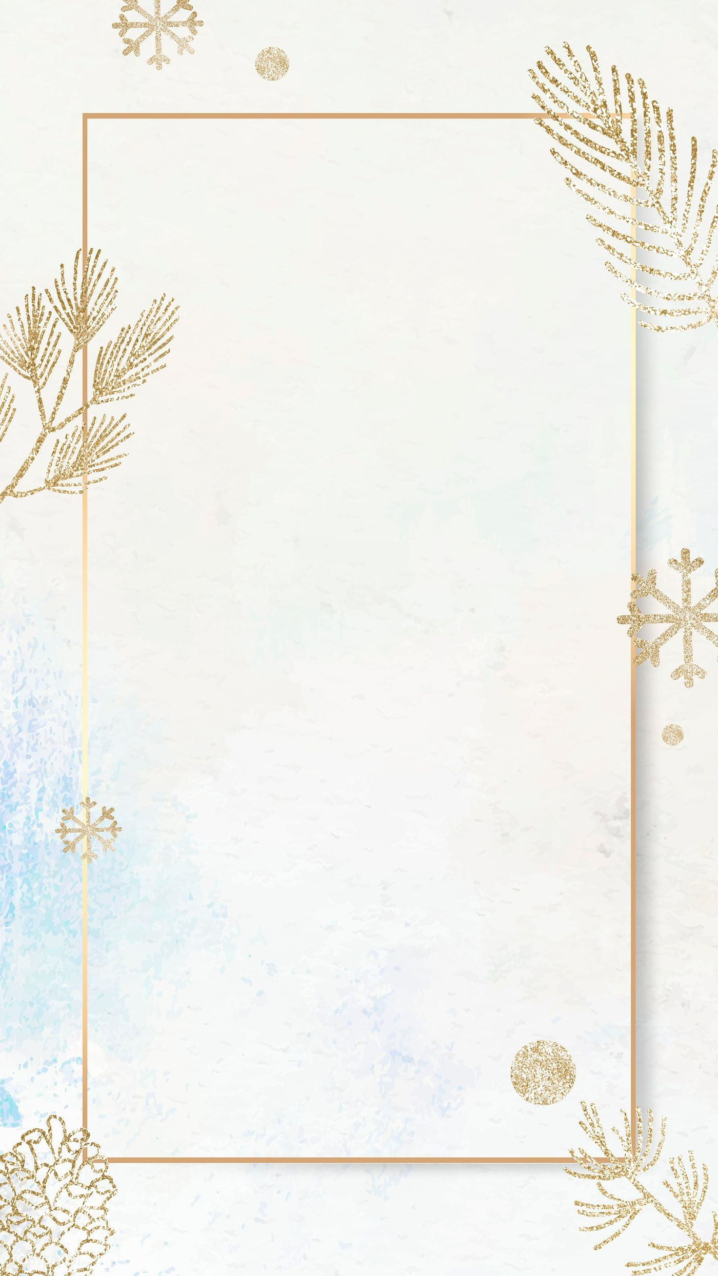 Download Premium Vector Of Shimmery Botanical Gold Frame Mobile Phone Gold Frame Framed Wallpaper Wallpaper