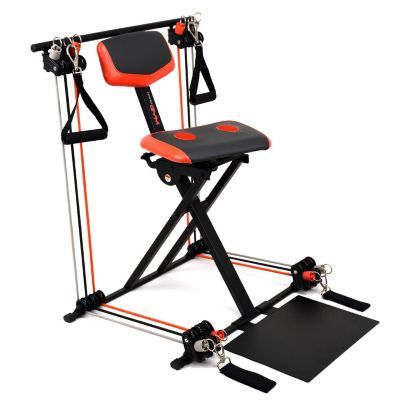 Nano Gym Supreme Portable Home Gym w/ Footplate, Built-in