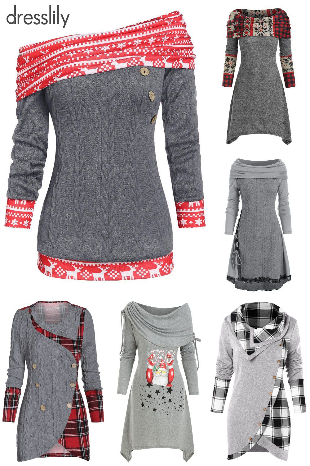 Sweaters and Cardigans | Trendy Sweaters & Cardigans | Women's Sweaters | Plus Size Winter Outfits #casualchristmasoutfitsforwomen