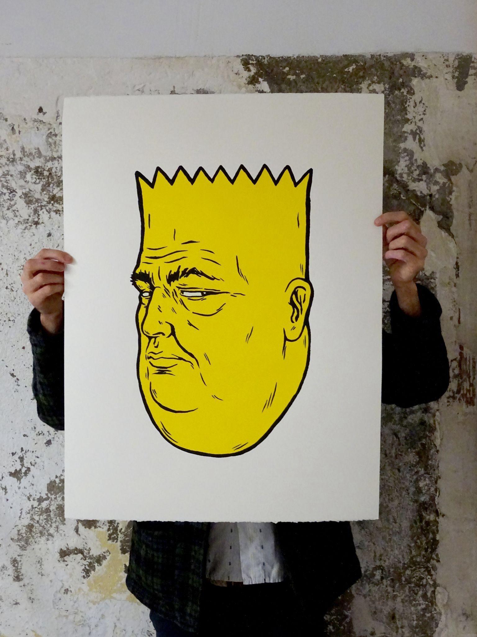 unga broken fingaz fat bart simpson print   art   Pinterest   Bart ...