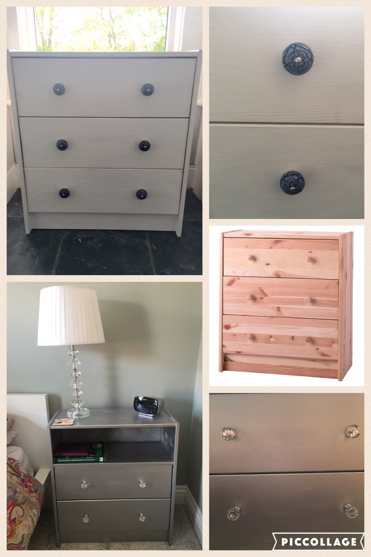 IKEA rast chest of drawers hack 2 ways! Upcycled using white Annie Sloan  paint with