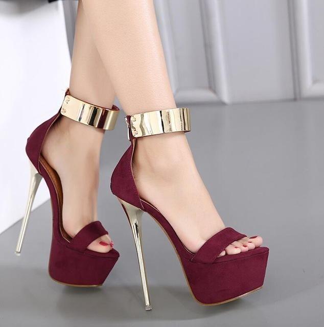 Fashion Donna Round Toe Height Heels Platform Extreme High Heels Height scarpe   e21a23
