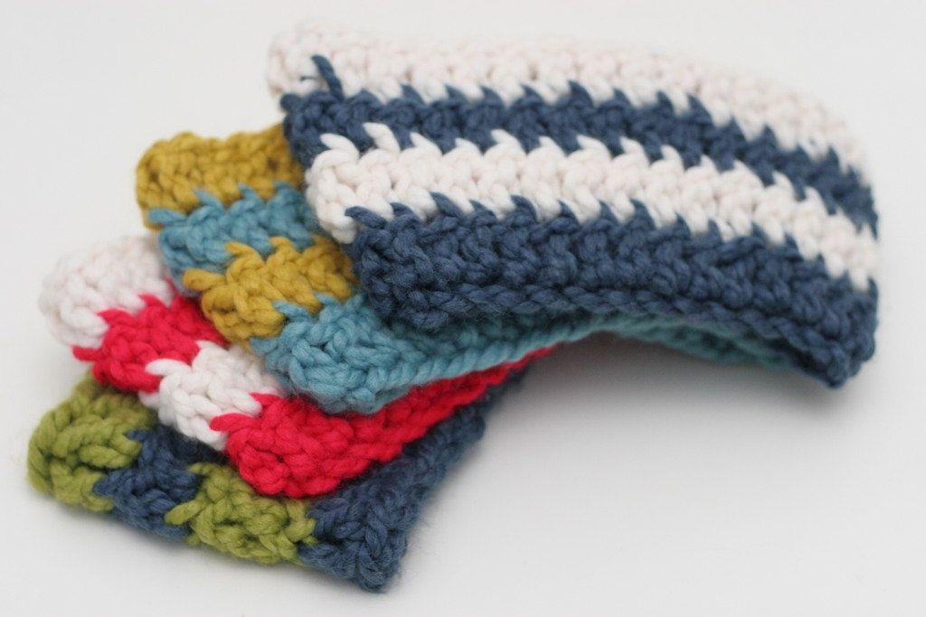Chunky Cowl For Kids - Chunky Crochet Cowl for Kids - Kids Snood - Blue and White Stripes. $26.00, via Etsy.