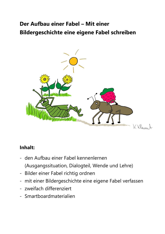 Materialpaket Xl Fabeln Unterrichtsmaterial In Den Fachern Deutsch Kunst Fabeln Smart Board Klassenarbeiten