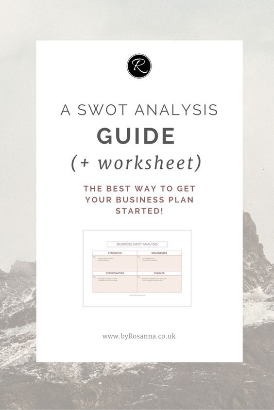 A SWOT Analysis Guide (+ Worksheet) Swot analysis and Business - bar business plan