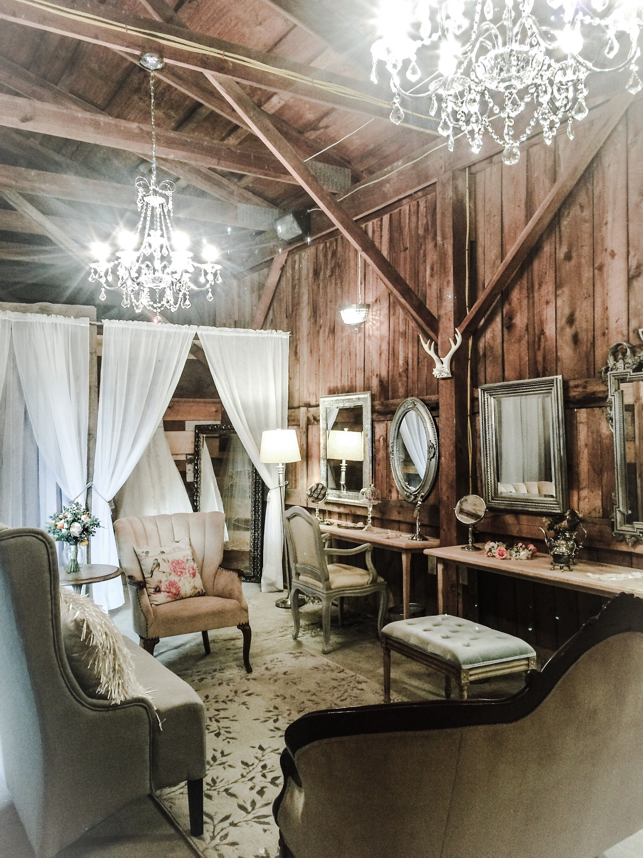 Bridal suite at The Barn at Silver