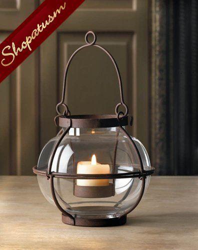 12 Wholesale Lanterns Rustic Centerpiece Small Glass Orb