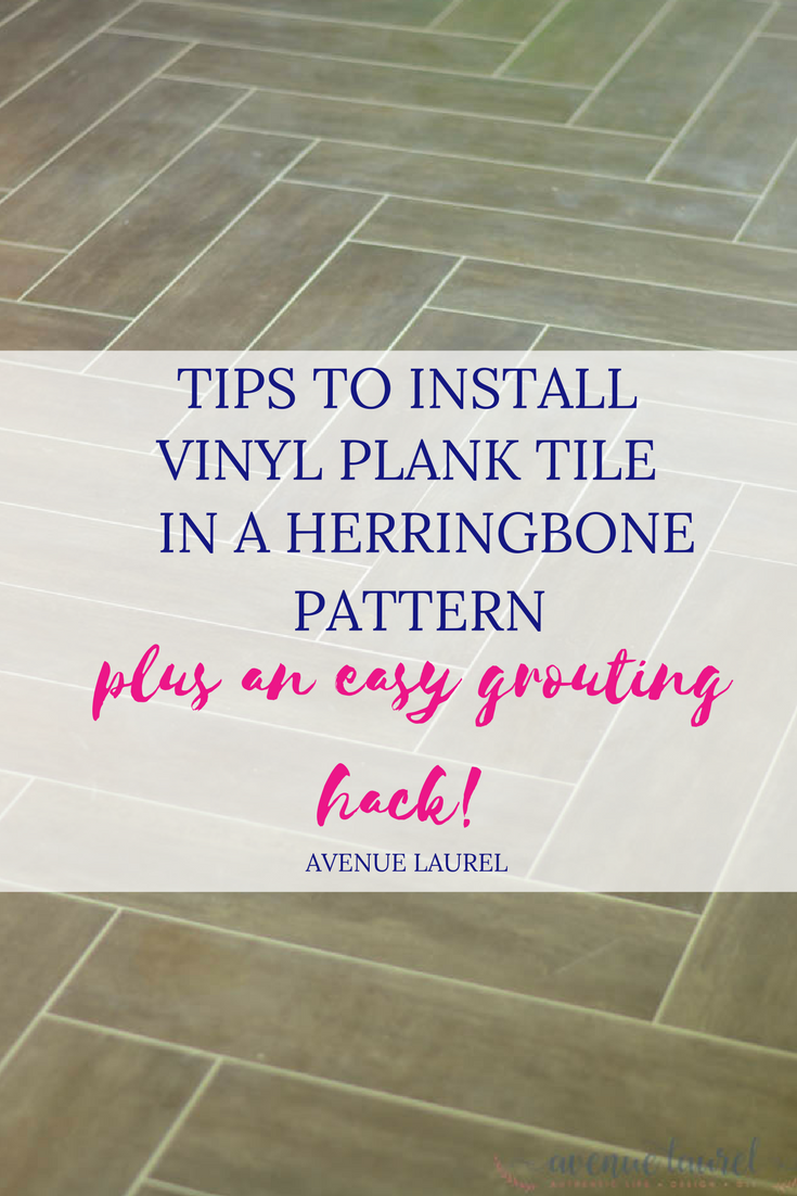 Tips to install vinyl plank tile in a herringbone pattern, plus an ...