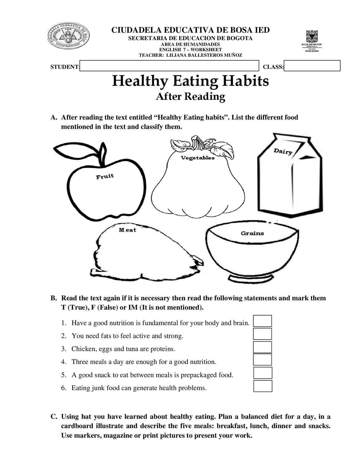 Halloween Nutrition Worksheets Nursery Homework Sheets Second Grade Science  Worksheets   Halloween worksheets free [ 1584 x 1224 Pixel ]