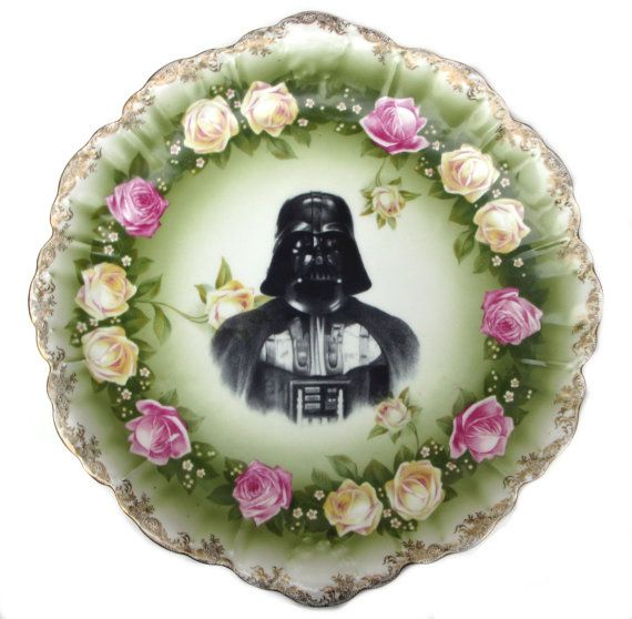 Darth Vader Portrait Plate Altered Antique by BeatUpCreations