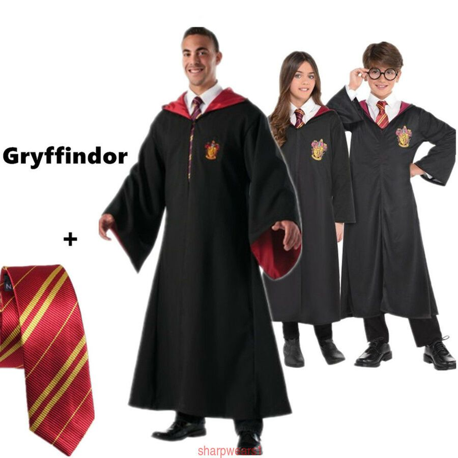 0c5a0ac72be84 Harri Potter Hermione Granger Gryffindor Cape Cloak Robe Tie Cosplay ...