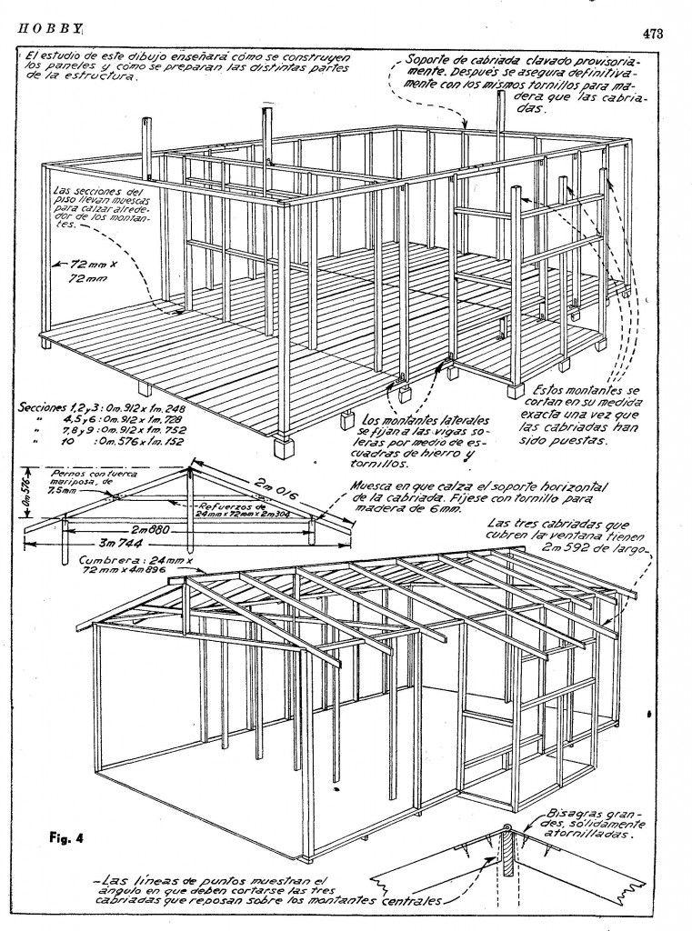 Casa Cabaña2 Planos Cabañas De Madera Planos De Casas De Madera Cabañas De Madera