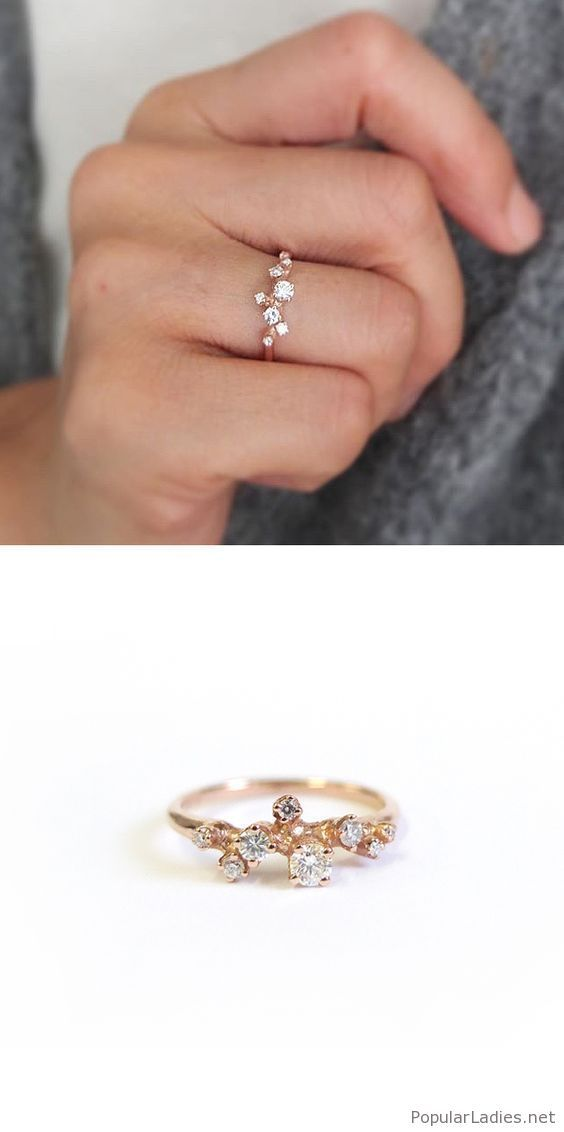 579e18c34ce37 Special golden winter ring design inspire | Fashion | Rings, Jewelry ...