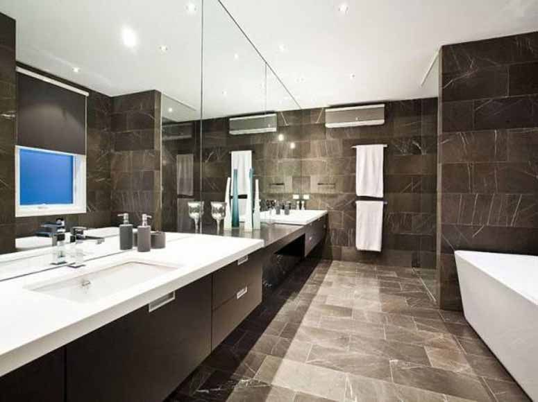 Minimalist bathroom design luxury house in melbourne australia for the home pinterest Modern australian bathroom design
