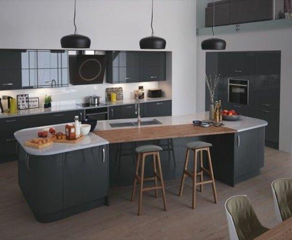 Cuisine gris anthracite - 56 idées pour une cuisine chic et moderne - meuble de cuisine gris anthracite