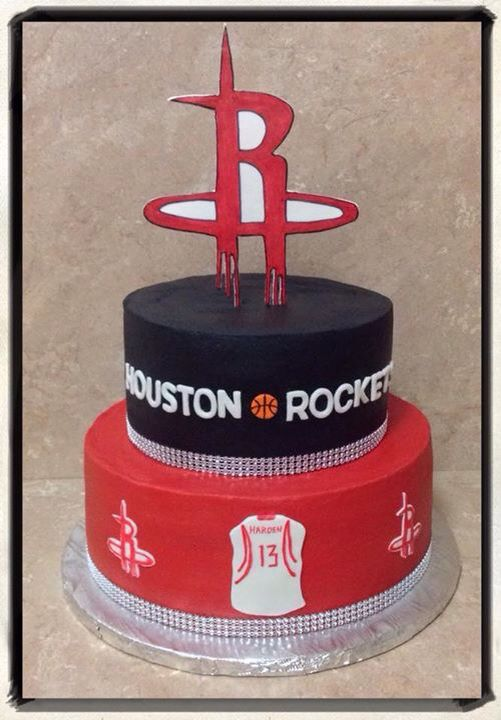 Houston Rockets Grooms Cake 2 Tier Tiered Cakes Rocket 13th Birthday