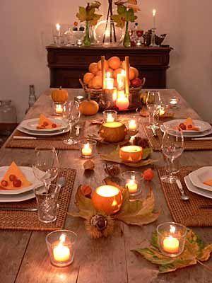 Tischdeko für den Herbst (Quelle: Kerzengüte) #herbstdekotisch
