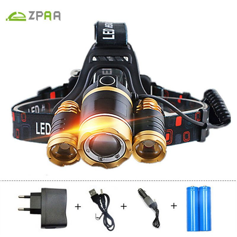 Zpaa Rechargeable 12000lm Powerful Head Lamp Led Headlamp Torch Head Flashlight Led Lights Zoomable Waterproof Outdoor Equipment Affiliate