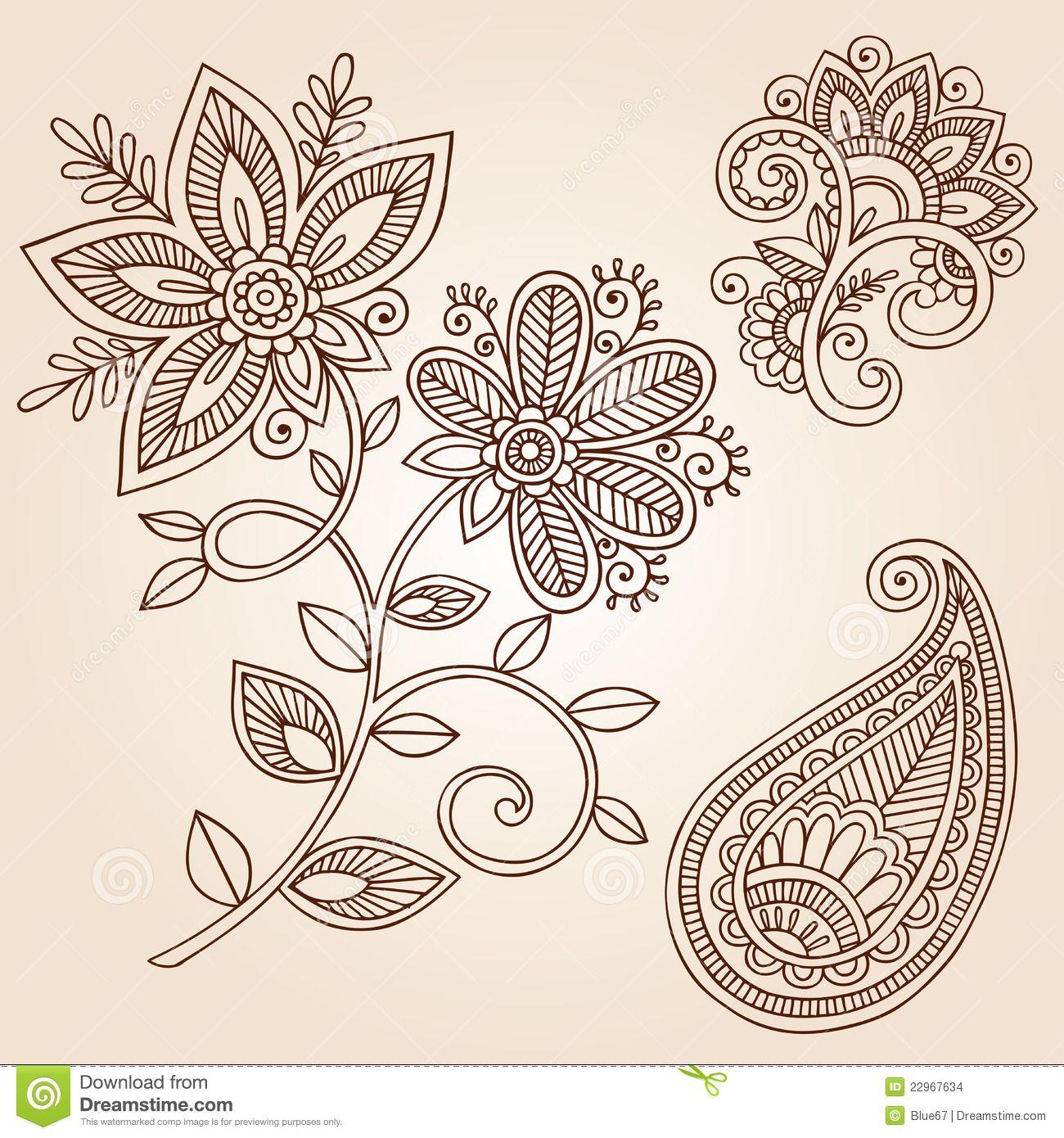 Mandala Henna Designs: Hooking Paisley