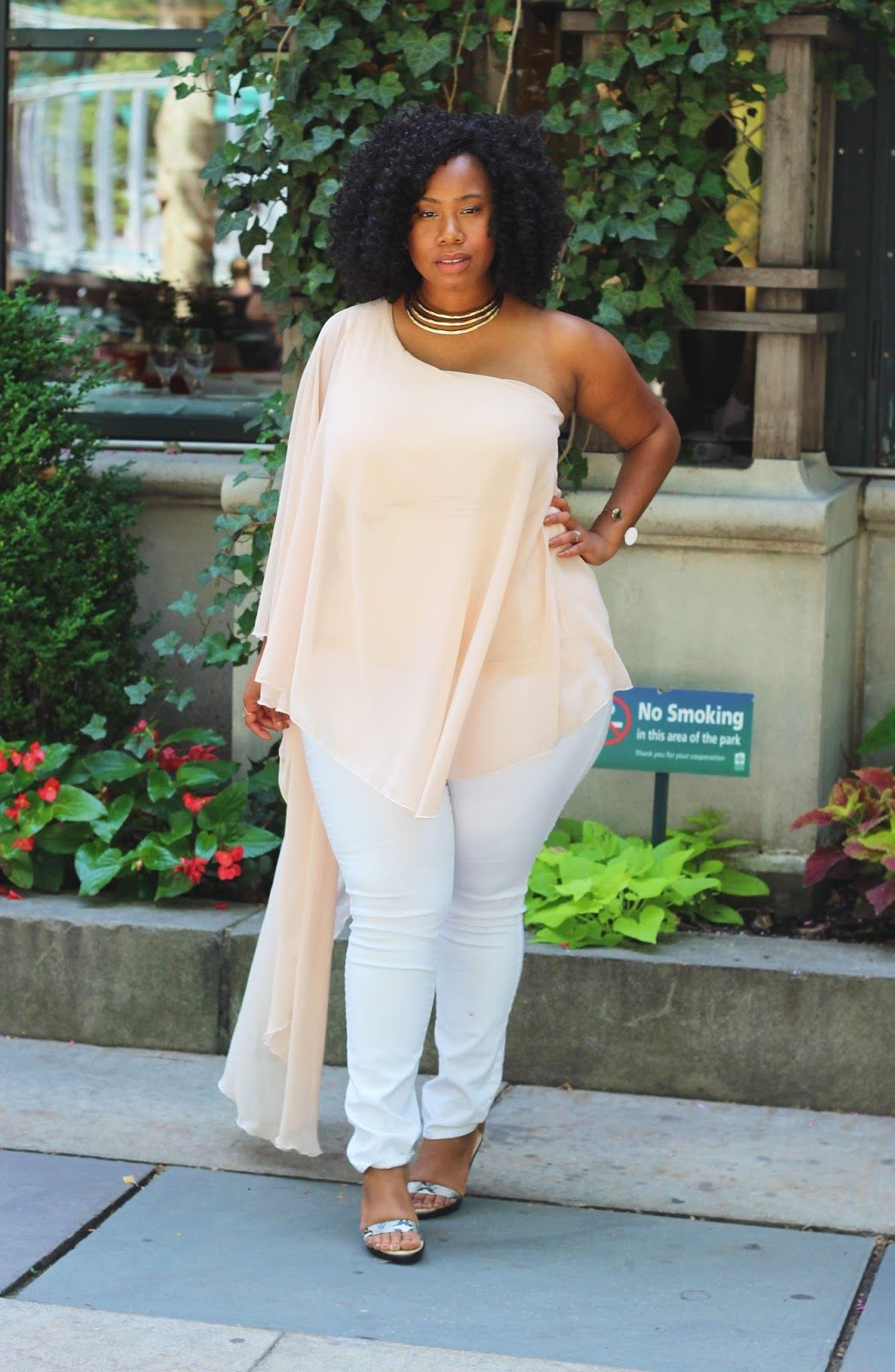 plus size chiffon shirt top boohoo white jeans | PHAT FASHION BBW ...