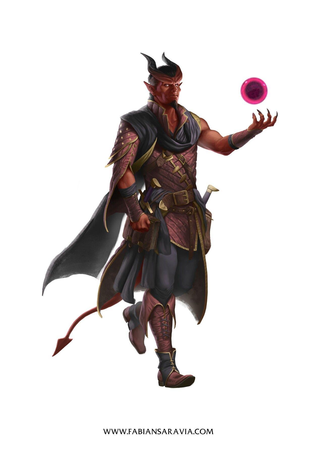 Tiefling Warlock | Fantasy | Fantasy demon, Dungeons