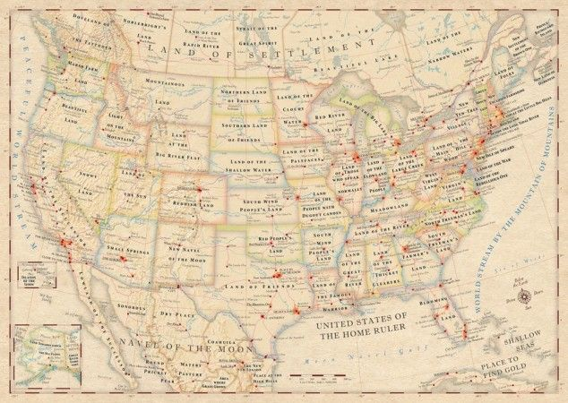united states map with place names replaced by original meanings 6 pictures