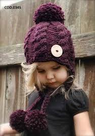 gorro tejido para niña - Buscar con Google  3e186856e75