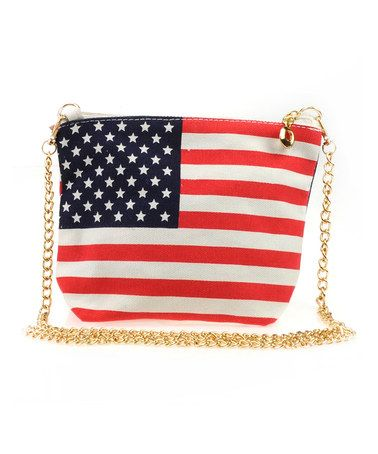 Look what I found on #zulily! Chain-Strap American Flag Crossbody Bag #zulilyfinds
