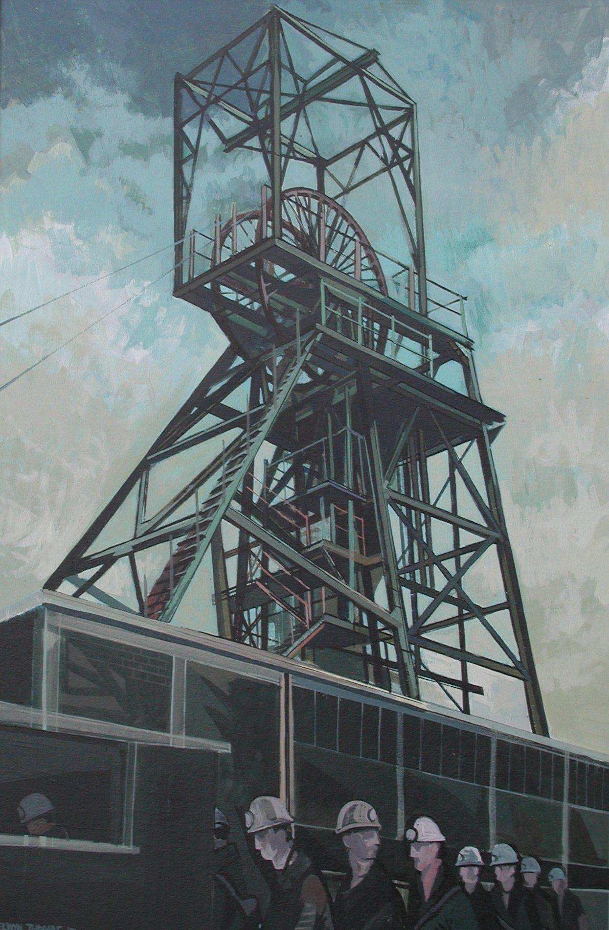 Elwyn Thomas (Welsh Artist): Maerdy Colliery