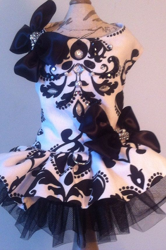 Classy Black White Harness Dress For Any By Couturefashionhouse