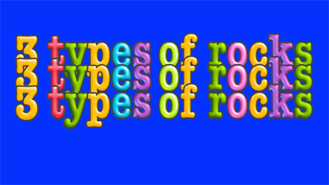 Three types of rock poem and music video- Earth Science
