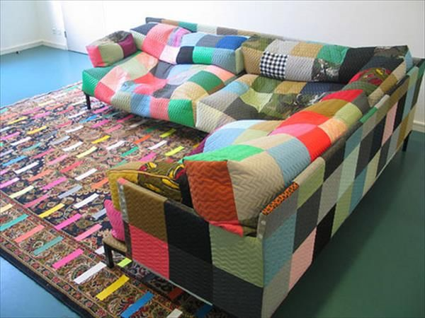 Diy Beanbag Sofa And Duct Tape Rug 101 Crafts