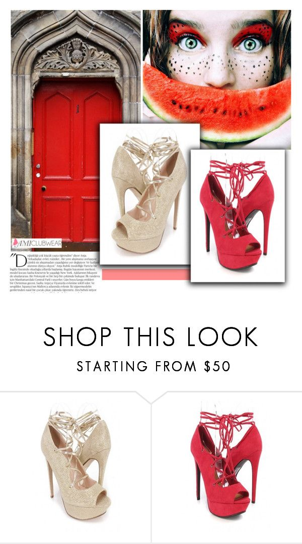 """""""Lipstick Peep Toe Lace Up High Heels Faux Suede"""" by pinki1994 ❤ liked on Polyvore featuring Balmain and amiclubwear"""