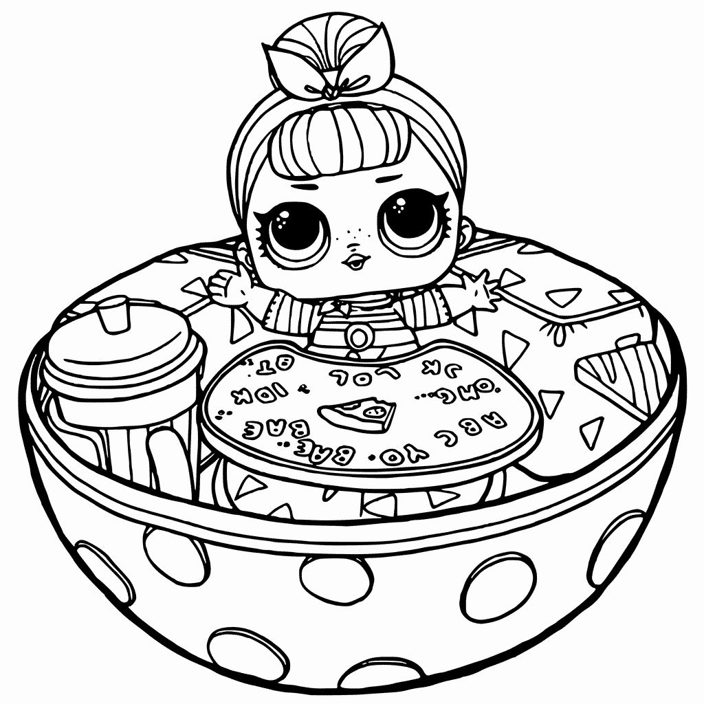 Unicorn Kitty Coloring Page New Lol Doll Coloring Pages ...