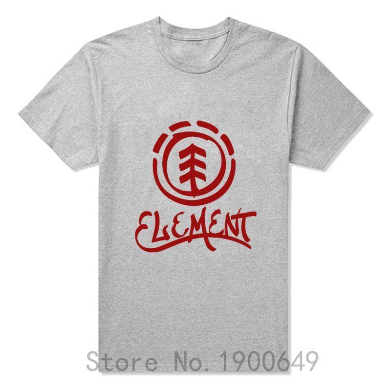 Summer New Brand Fashion Element Skateboard Streetwear Cotton Man T-shirts Tops Tees Short Sleeve Casual T Shirts