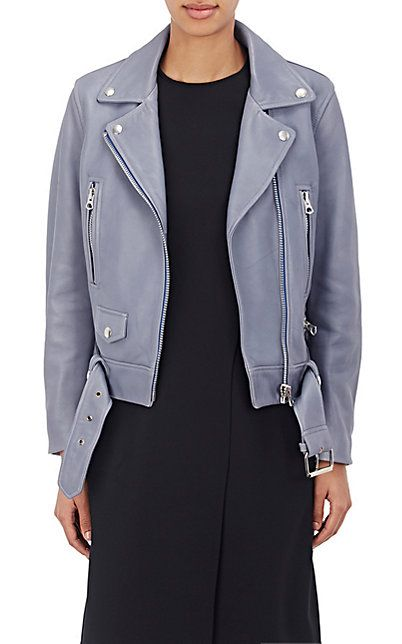 """We Adore: The """"Mock"""" Grained Leather Moto Jacket from Acne Studios at Barneys New York"""