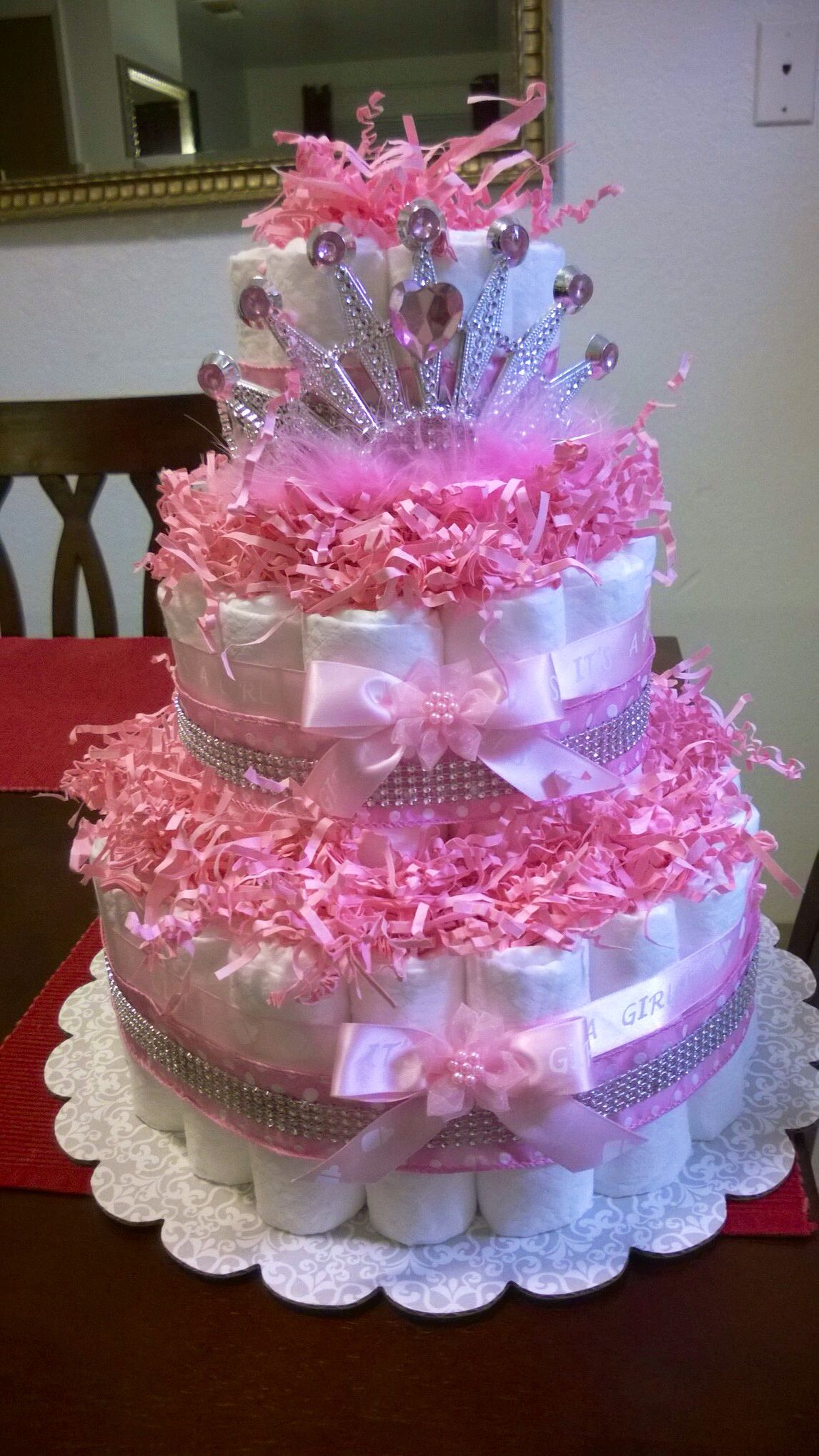 Princess diaper cake Baby shower Pinterest