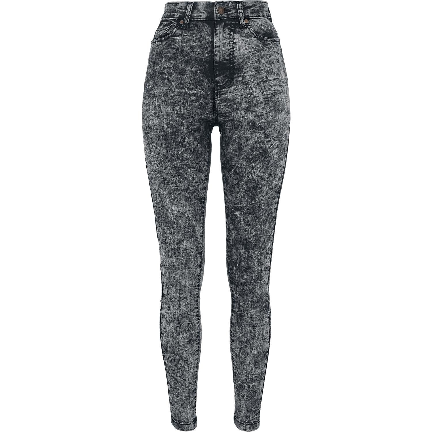 Ladies High Waist Denim Skinny Pants by Urban Classics