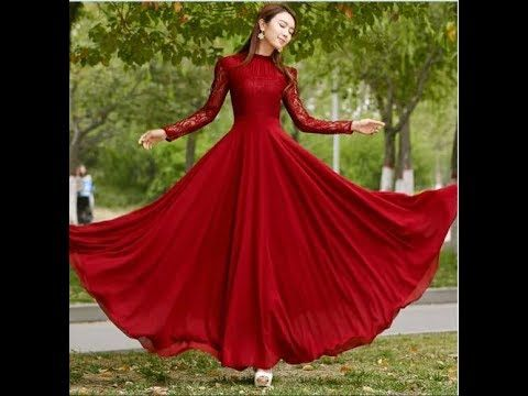 Comfortable Long Frock Dress Designs For Girls 2017 2018