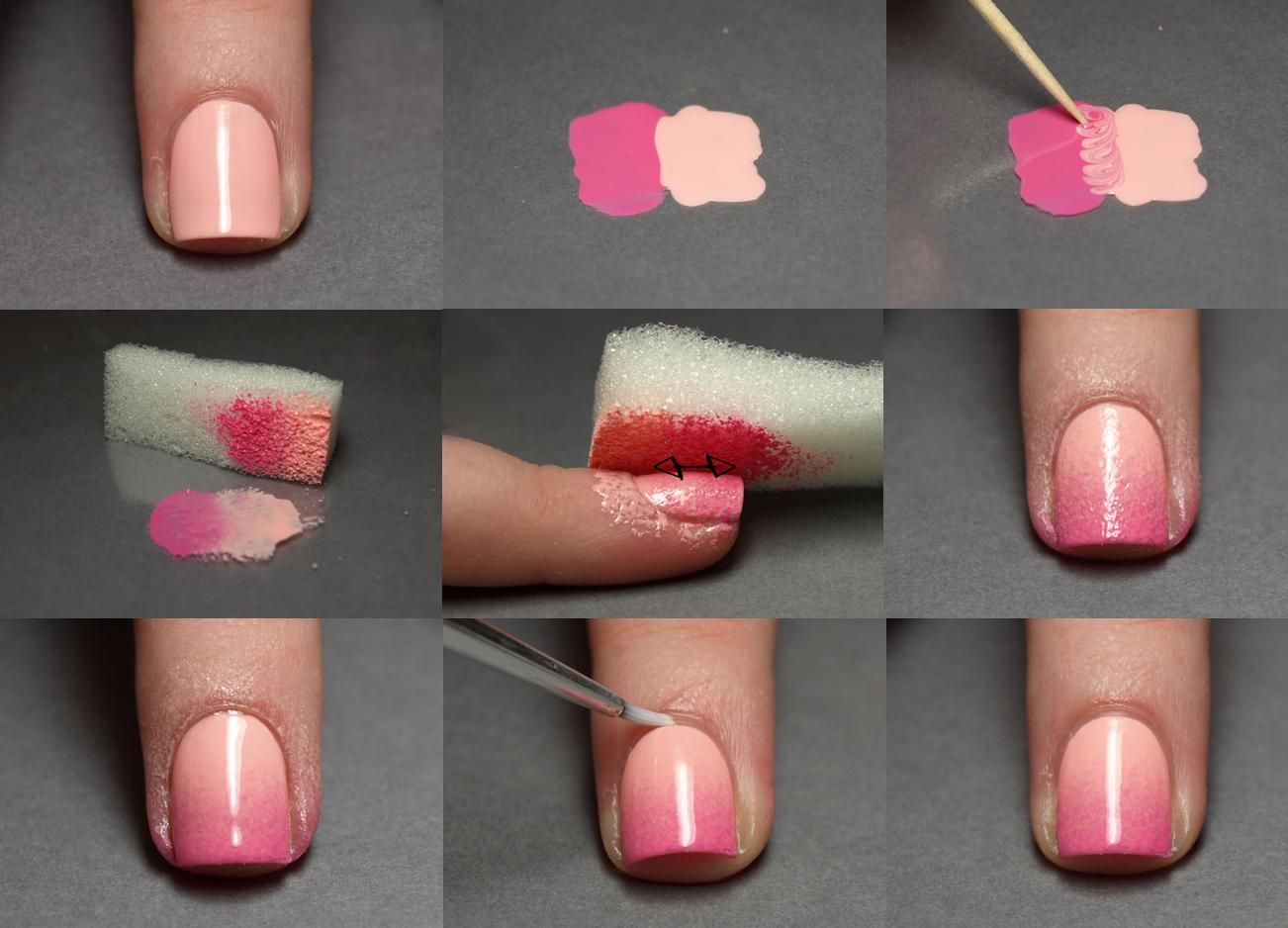 Pink Ombre nails - How to. | Clothes/Nails/Hair <3 | Pinterest ...