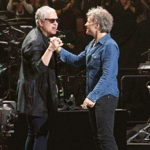 Jon Bon Jovi and Hugh McDonald | Bon jovi, Jon bon jovi, Record producer