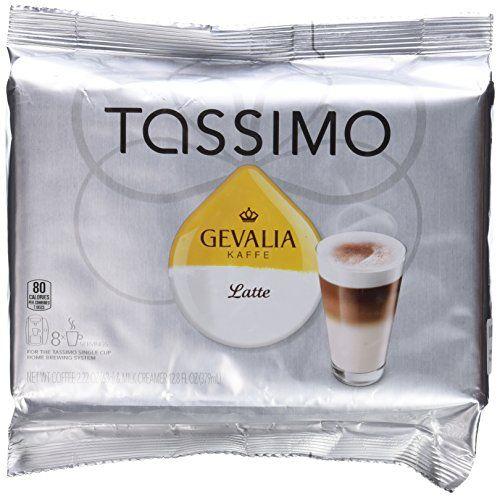 Tassimo Coffee TDiscs Gevalia Latte 8Box ** Details Can Be