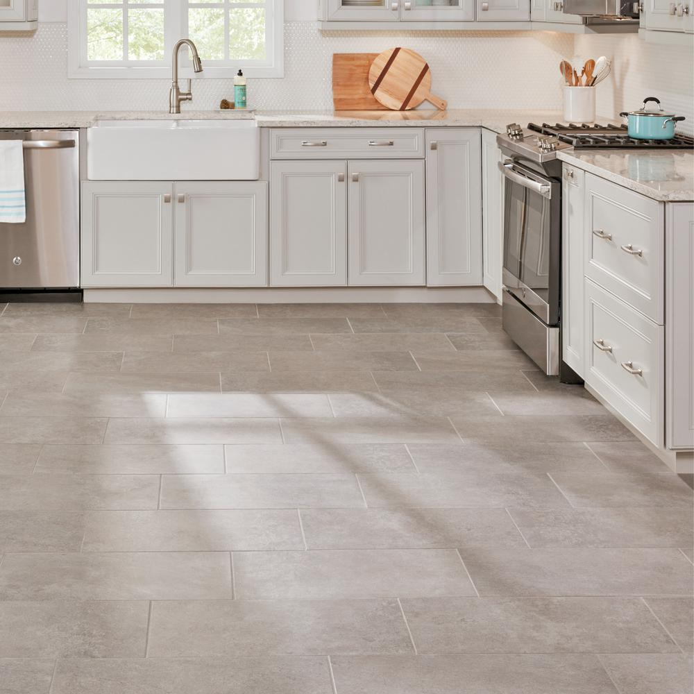 Lifeproof Quartzite 12 In X 24 In Glazed Porcelain Floor And Wall Tile 15 6 Sq Ft Case Lp511224hd1p6 The Home Depot Porcelain Flooring Beige Kitchen Kitchen Flooring