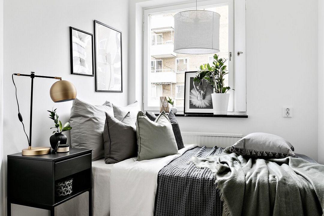 Noir Et Blanc Tres Graphique Deco Chambre Noir Et Blanc Chambre Noir Et Blanc Deco Petite Chambre