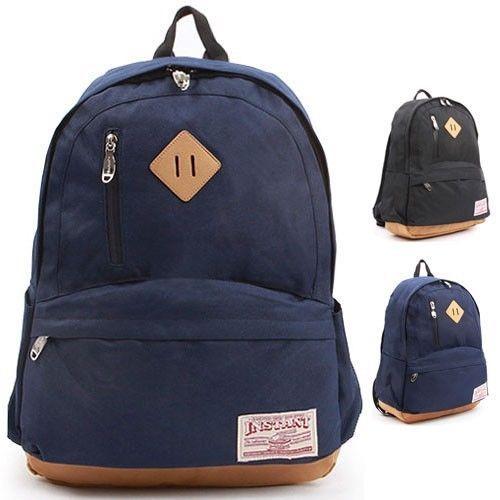 College backpack School Bags for Men School Bookbags Black Navy ...