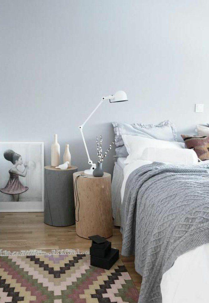 une chambre a coucher cocooning de couleur taupe avec quelle couleur associer le gris