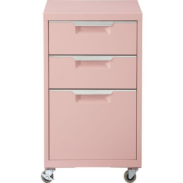Genial CB2 Tps Pink File Cabinet ($159) Found On Polyvore