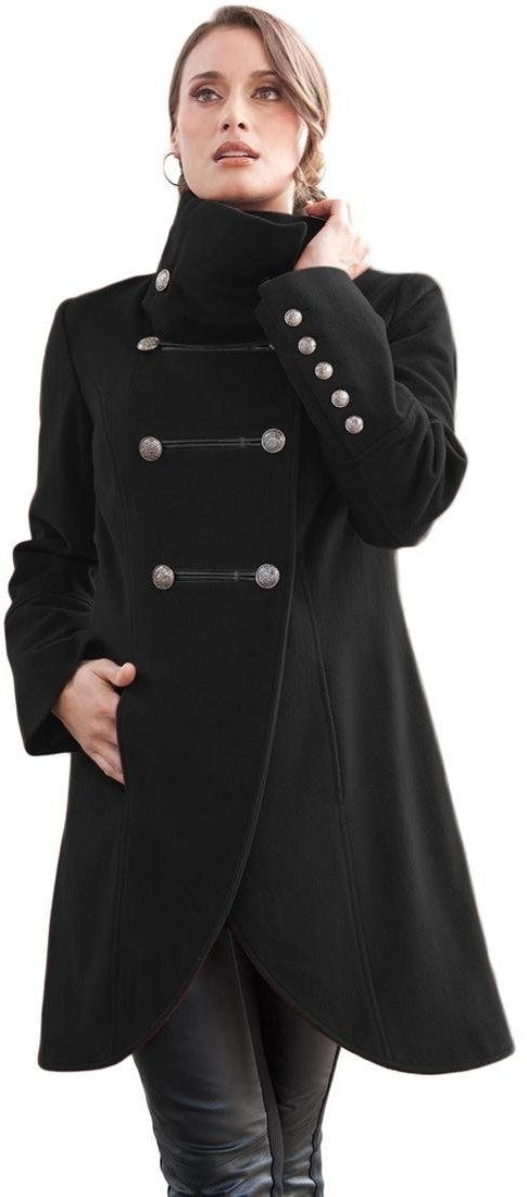 547f2cc42 Jessica London Women's Plus Size Coat In Military Style | Plus Size ...