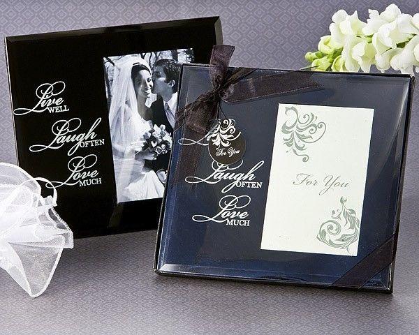 48 Live Laugh Love Black Glass 35 X 5 Photo Frame Birthday Bridal Wedding Favor